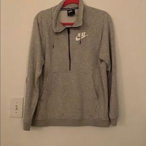 Grey NIKE half zip pullover